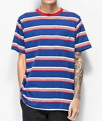 Matix Sets Blue & Red Striped Knit T-Shirt