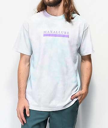 Maxallure Core White & Mint Blue Tie Dye T-Shirt