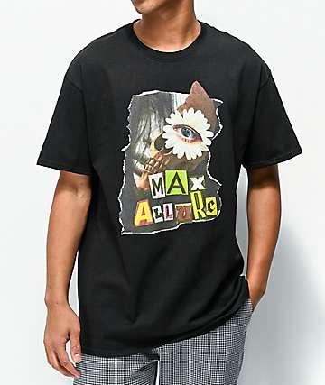 Maxallure Illusion Face Black T-Shirt
