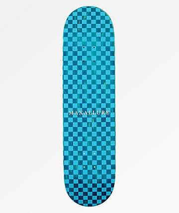 "Maxallure Lets Go Checkerboard Blue 8.5"" Skateboard Deck"