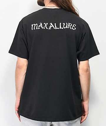 Maxallure Rosy Royalty Black T-Shirt