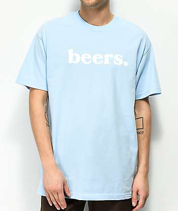 Meet Here For Beers Logo Blue T-Shirt