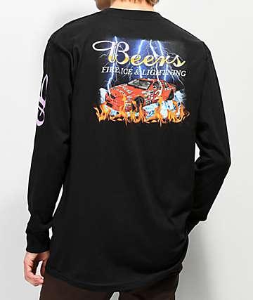 cf713cd08b5c9 Meet Here For Beers Racing Team Black Long Sleeve T-Shirt