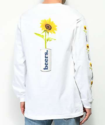 Meet Here For Beers True Love White Long Sleeve T-Shirt