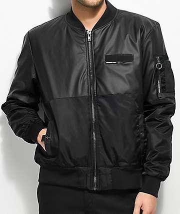 Members Only Deftone chaqueta bomber en negro