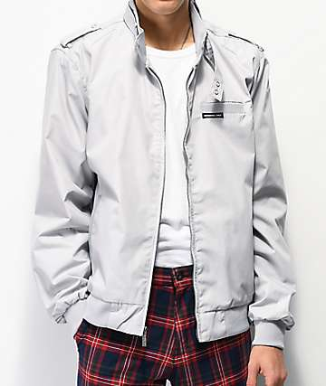 1fe0451bb Members Only Iconic Racer Light Grey Jacket