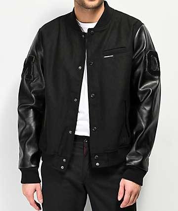 Members Only chaqueta de lana negra