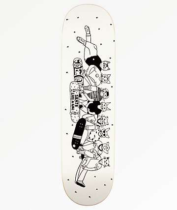 "Meow Skateboards x Skate Like A Girl 8.25"" Skateboard Deck"