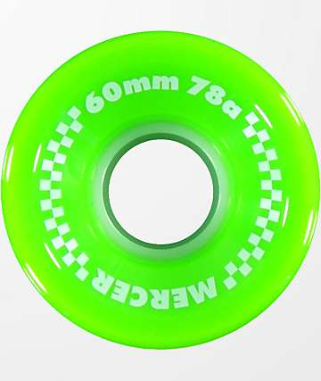 Mercer 60mm 78a ruedas de skate color verde lima