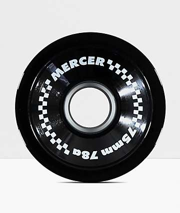 Mercer 75mm 78a ruedas de longboard de color negro