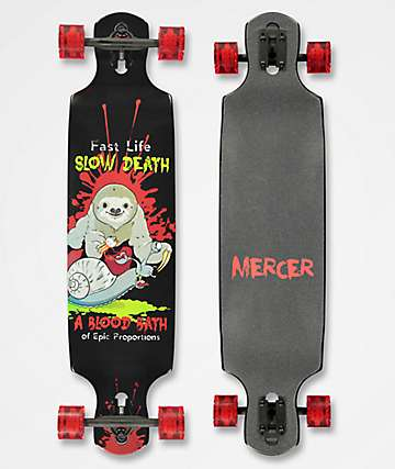 "Mercer Blood Bath 40"" Drop Through Longboard Complete"