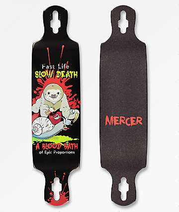 "Mercer Blood Bath 40"" Drop Through Longboard Deck"