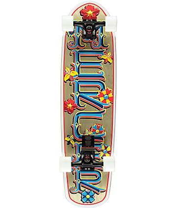 """Mercer Flower Power 34"""" skateboard cruiser completo"""