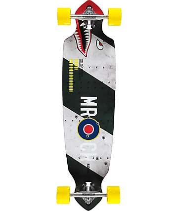 "Mercer Hill Bomber 36"" drop through longboard completo"