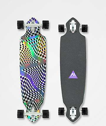 "Mercer Iridescence 36"" Drop Through Longboard Complete"