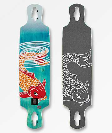 "Mercer Koi Ripples 38"" Drop Down Drop Through Longboard Deck"
