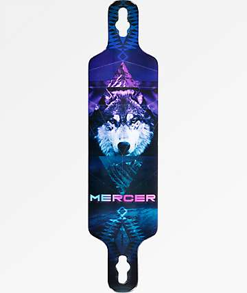 "Mercer Mystic Wolf 2 40"" Drop Through Longboard Deck"