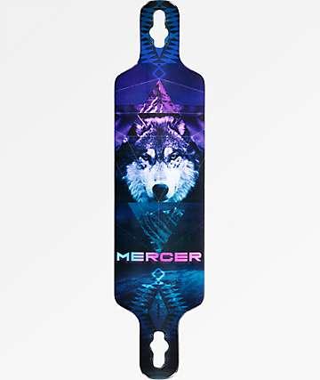"""Mercer Mystic Wolf 2 40"""" Drop Through Longboard Deck"""