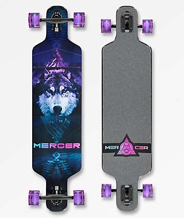 "Mercer Mystic Wolf 2 40"" Drop Through longboard completo"