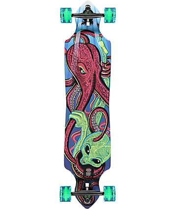 "Mercer Octo VS. Alien 40.5""  Double Drop Longboard Complete"