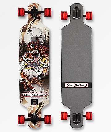 "Mercer Worlds Collide 40"" Drop Through Longboard completo"