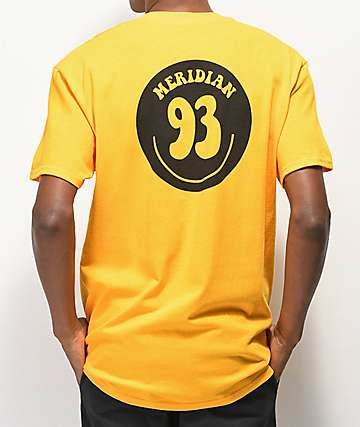 Meridian Skateboards 93 Smile Gold T-Shirt