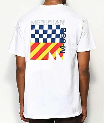 Meridian Skateboards 93M camiseta blanca