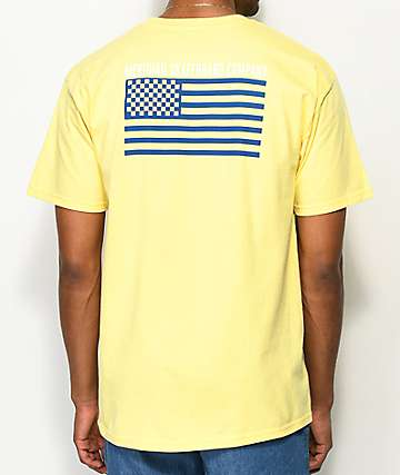 Meridian Skateboards Checkers & Stripes Gold T-Shirt