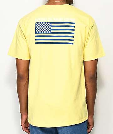 Meridian Skateboards Checkers & Stripes camiseta amarilla