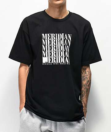 Meridian Skateboards Fade Black T-Shirt