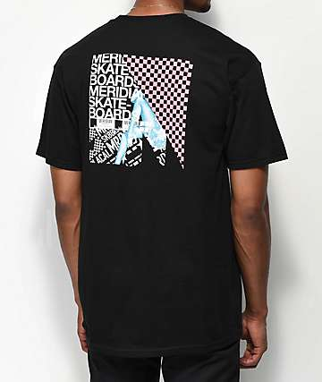 Meridian Skateboards Leg Check camiseta negra