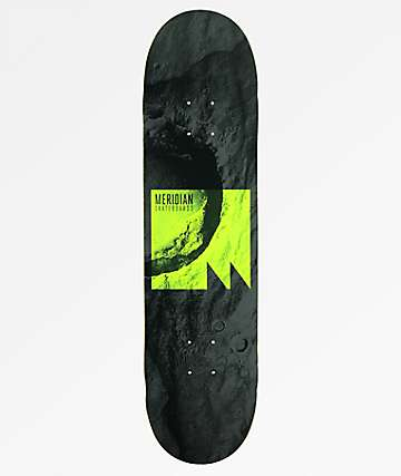 "Meridian Skateboards Lift Off 8.0"" Grey Skateboard Deck"