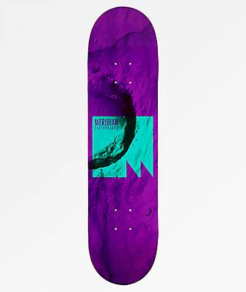 "Meridian Skateboards Lift Off 8.125"" Purple Skateboard Deck"