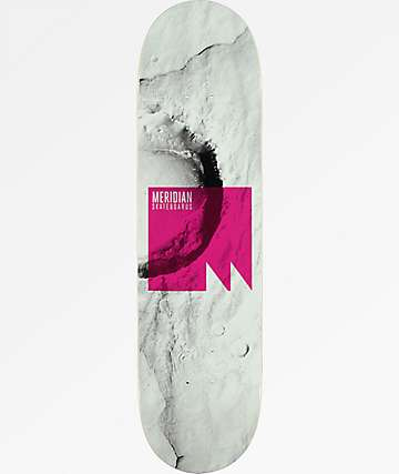 "Meridian Skateboards Lift Off 8.25"" White Skateboard Deck"