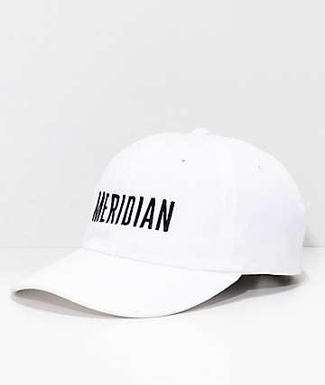 Meridian Skateboards Logo White Strapback Hat