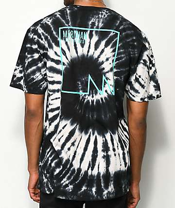 Meridian Skateboards M Squared Black & White Tie Dye T-Shirt