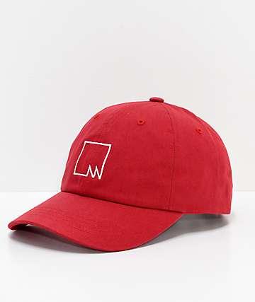 Meridian Skateboards M Squared Red Strapback Hat