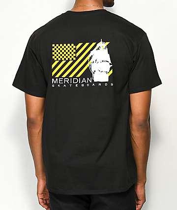 Meridian Skateboards Pirates camiseta negra