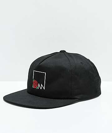 Meridian Skateboards Rose Box Logo gorra negra