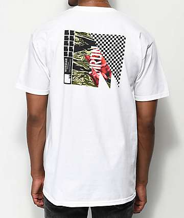 Meridian Skateboards Rose Camo camiseta blanca
