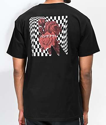 Meridian Skateboards Rose Logo Black T-Shirt