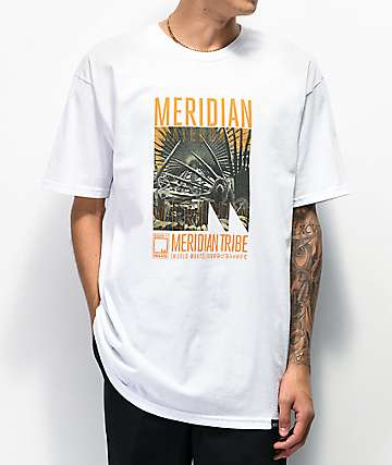 Meridian Skateboards Sloth Tribe White T-Shirt