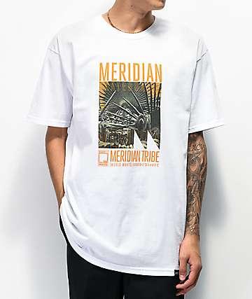 Meridian Skateboards Sloth Tribe White T-Shirt