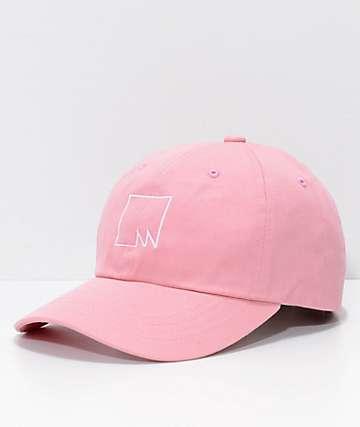 Meridian Skateboards Squared Outline Pink Strapback Hat