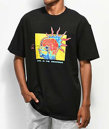 Metal In The Microwave Spikey Head Black T-Shirt