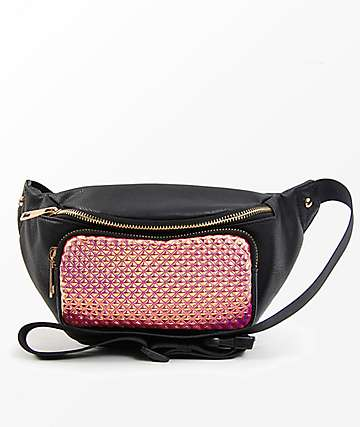 Metallic Hot Pink & Black Fanny Pack
