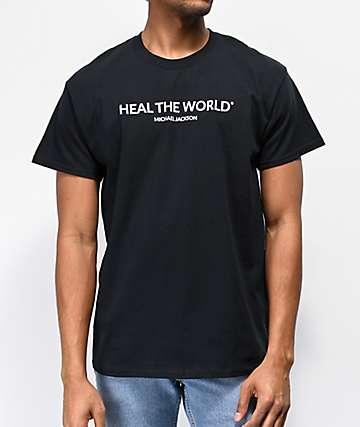 Michael Jackson Heal The World Black T-Shirt
