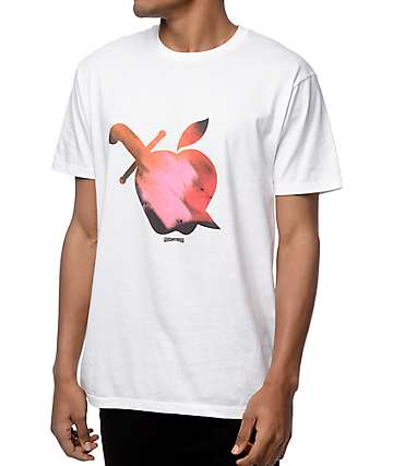 Mighty Healthy Apple Paint White T-Shirt
