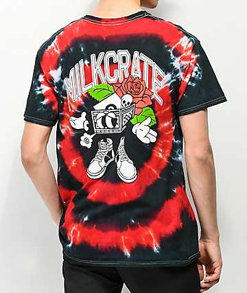 Milkcrate Eye Of The Storm Red Tie Dye T-Shirt