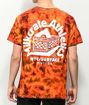 Milkcrate Logo Fire Red Tie Dye T-Shirt